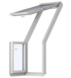 Fereastra de mansarda pentru acces pe terasa VELUX GEL