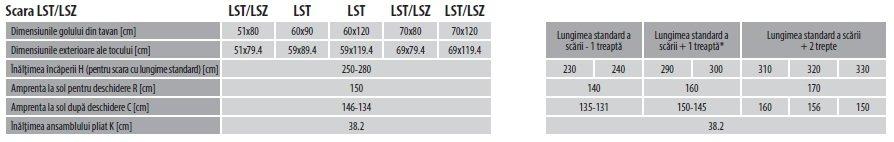 Treapta scari pentru LST / LSZ