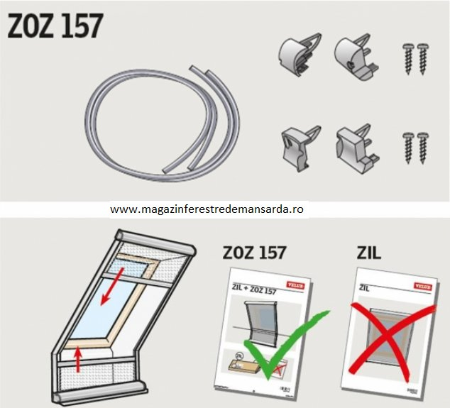 Adaptor pentru plase impotriva insectelor VELUX ZOZ 157