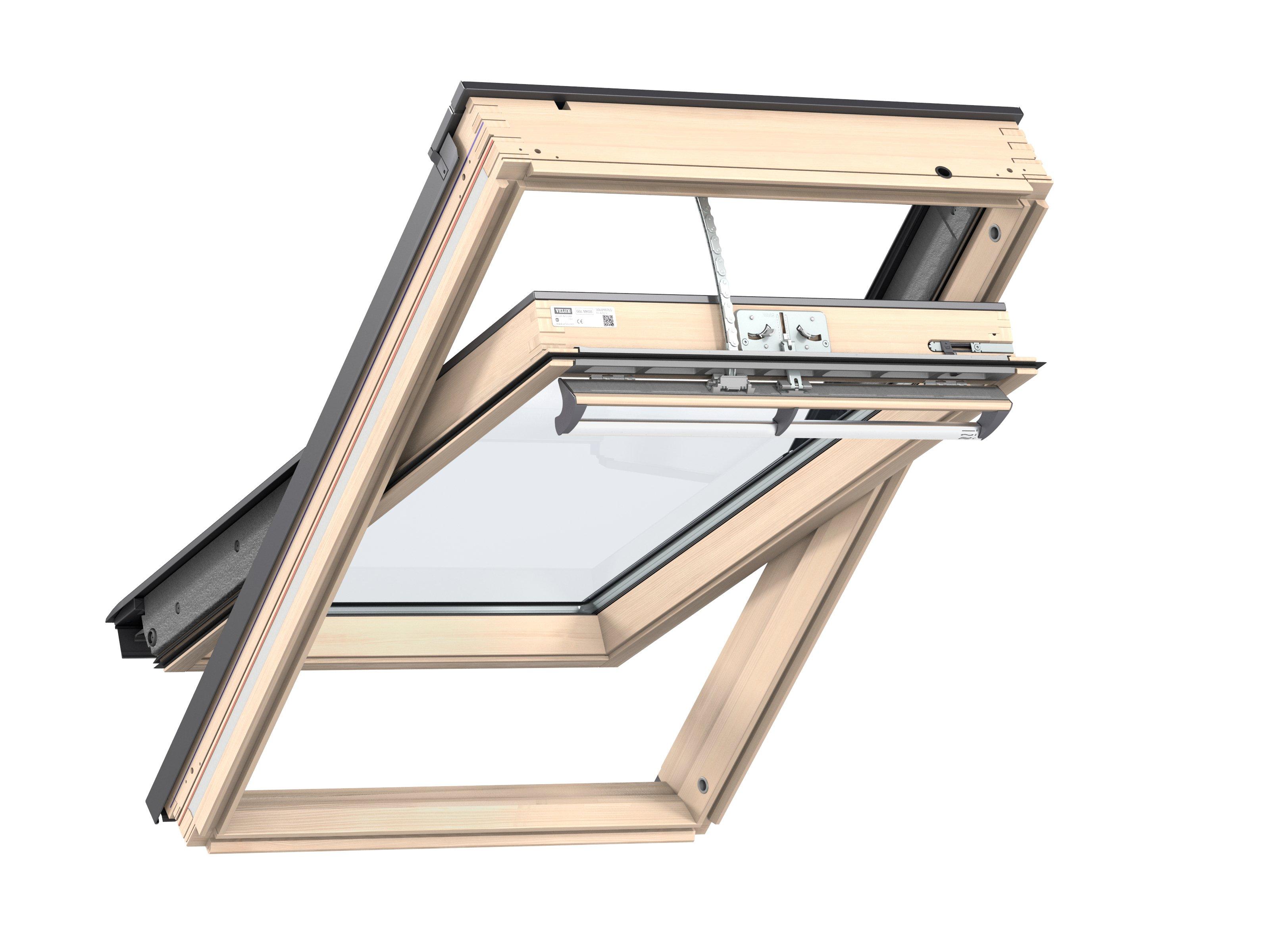fereastra de mansarda velux ggl integra actionate electric. Black Bedroom Furniture Sets. Home Design Ideas