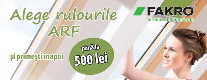 Promotie rulouri opace Fakro ARF